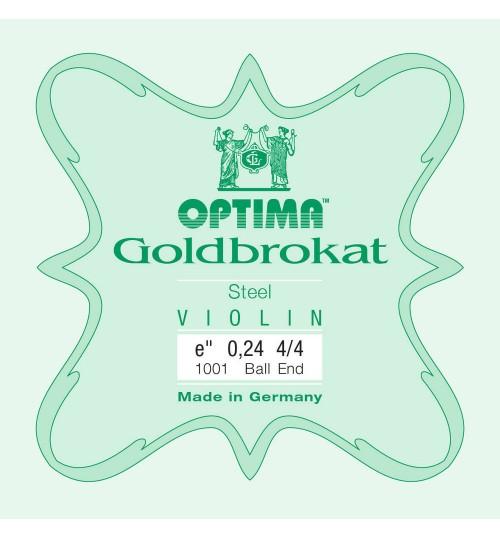 Tel Keman Optima  Goldbrokat E ( Mi ) 0,26mm  Tek Keman Teli 631525